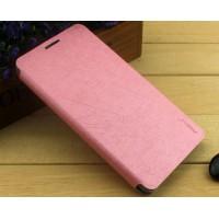 Текстурный чехол флип подставка на присоске для Nokia Lumia 730/735 Розовый