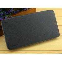 Текстурный чехол флип подставка на присоске для Nokia Lumia 730/735 Черный