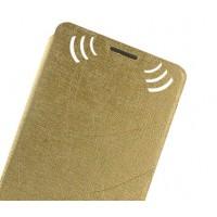 Текстурный чехол флип подставка на присоске для Nokia Lumia 730/735 Бежевый