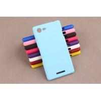 Пластиковый матовый непрозрачный чехол для Sony Xperia E3 dual Голубой