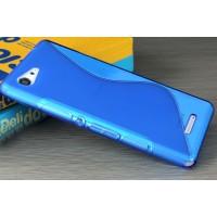 Силиконовый S чехол для Sony Xperia E3 dual Синий