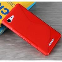 Силиконовый S чехол для Sony Xperia E3 dual Красный