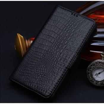 Кожаный чехол портмоне (нат. кожа крокодила) для Nokia Lumia 830