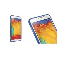 Металлический бампер для Samsung Galaxy Note 4 Синий