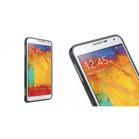 Металлический бампер для Samsung Galaxy Note 4 Черный