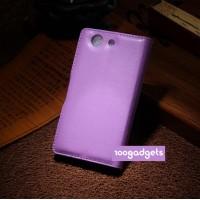 Чехол портмоне подставка с защелкой для Sony Xperia Z3 Compact Фиолетовый