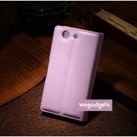 Чехол портмоне подставка с защелкой для Sony Xperia Z3 Compact Розовый