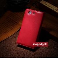 Чехол портмоне подставка с защелкой для Sony Xperia Z3 Compact Красный