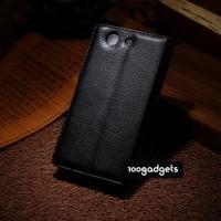 Чехол портмоне подставка с защелкой для Sony Xperia Z3 Compact Черный