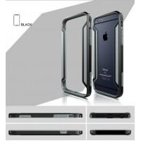 Бампер силикон-пластик повышенной защиты для Iphone 6 Черный
