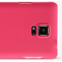 Пластиковый матовый нескользящий премиум чехол для Samsung Galaxy Note 4 Красный
