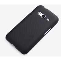 Пластиковый матовый нескользящий премиум чехол для Samsung Galaxy Ace 4 Черный