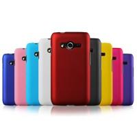 Пластиковый матовый чехол серия Metallic для Samsung Galaxy Ace 4