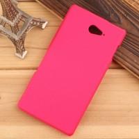 Пластиковый матовый непрозрачный чехол для Sony Xperia M2 Aqua Пурпурный