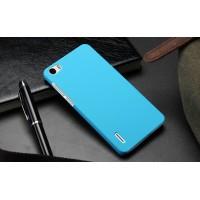 Пластиковый матовый непрозрачный чехол для Huawei Honor 6 Голубой