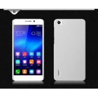 Пластиковый матовый непрозрачный чехол для Huawei Honor 6 Белый