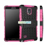 Силиконовый чехол экстрим защита для Samsung Galaxy Note 4 Розовый