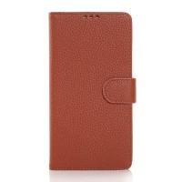 Чехол портмоне подставка с защелкой для Samsung Galaxy Note 4 Коричневый