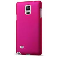 Пластиковый матовый непрозрачный чехол для Samsung Galaxy Note 4 Пурпурный