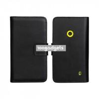 Чехол портмоне подставка с защелкой для Nokia Lumia 520 Черный