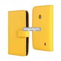 Чехол портмоне подставка с защелкой для Nokia Lumia 520 Желтый