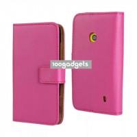 Чехол портмоне подставка с защелкой для Nokia Lumia 520 Пурпурный