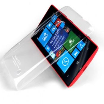 Пластиковый транспарентный чехол для Nokia Lumia 520/525