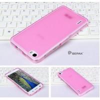 Силиконовый полупрозрачный чехол для Huawei Honor 6 Розовый