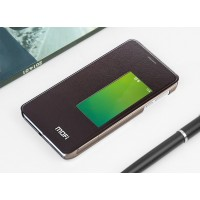 Чехол смарт флип на присосках и полупрозрачным основанием для Huawei Honor 6 Коричневый