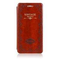 Чехол флип подставка на пластиковой основе серия Vintage для Iphone 6 Коричневый