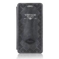 Чехол флип подставка на пластиковой основе серия Vintage для Iphone 6 Серый