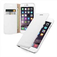 Кожаный чехол портмоне (нат. кожа с винтажной обработкой) для Iphone 6 Белый