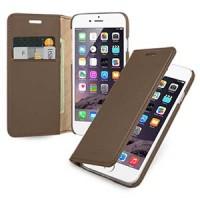 Кожаный чехол портмоне (нат. кожа с винтажной обработкой) для Iphone 6 Коричневый