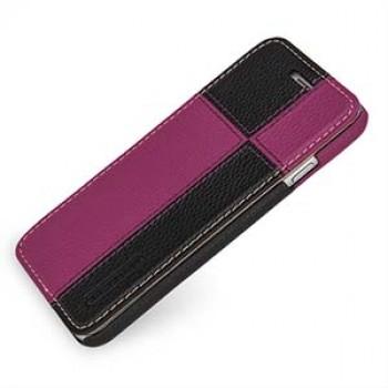 Кожаный чехол горизонтальная книжка (нат. кожа двух видов ручного пошива) для Iphone 6