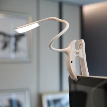 Светодиодный 14-LED светильник USB дизайн Росток с гибким стержнем, сенсорным управлением, 3 степенями яркости и зажимом