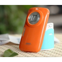 Силиконовый глянцевый чехол для Samsung Galaxy K Zoom Оранжевый