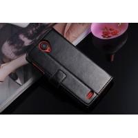Чехол бумажник-подставка для Lenovo S820 Черный