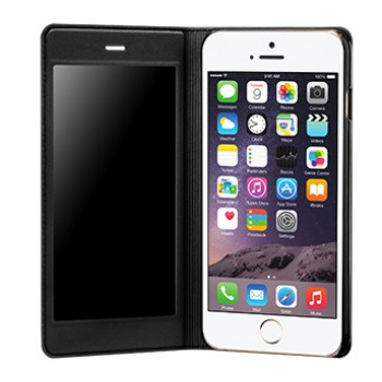 Эксклюзивный чехол флип на пластиковой основе с полноразмерным окном вызова и антишпионской пленкой для Iphone 6 Plus