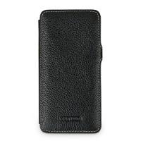 Кожаный чехол горизонтальная книжка (нат. кожа) с защелкой для Iphone 6 Черный