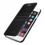 Кожаный чехол горизонтальная книжка (нат. кожа с вощеным покрытием) с ручной кожаной отделкой Sew Line для Iphone 6