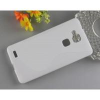Силиконовый S чехол для Huawei Ascend Mate 7 Белый