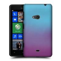 Градиентный пластиковый чехол для Nokia Lumia 625 Фиолетовый