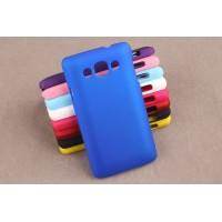 Пластиковый матовый непрозрачный чехол для LG L60 Синий