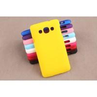 Пластиковый матовый непрозрачный чехол для LG L60 Желтый