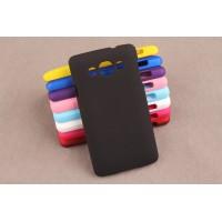 Пластиковый матовый непрозрачный чехол для LG L60 Черный