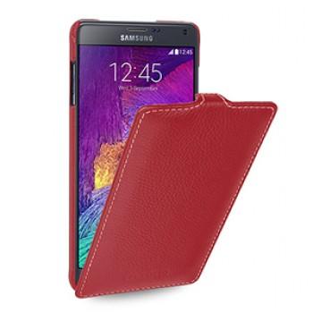 Кожаный чехол вертикальная книжка (нат. кожа) для Samsung Galaxy Note 4!New 14.10.2014