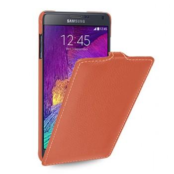 Кожаный чехол вертикальная книжка (нат. кожа) для Samsung Galaxy Note 4 6!New 22.10.2014