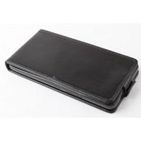 Чехол вертикальная книжка на пластиковой основе с магнитной застежкой для Huawei Honor 3x Черный