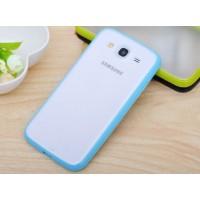 Силиконовый бампер для Samsung Galaxy Mega 5.8 (i9150 i9152) Голубой