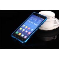 Металлический эрргономичный двухкомпонентный бампер для Huawei Honor 3x Синий